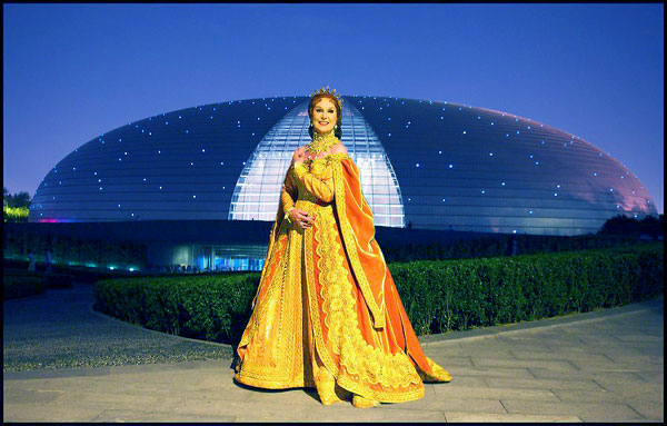 In 2008 Mariane Orlando toured with The Royal Swedish Ballet to China. Here in front of the Operahouse in Beijing. Photographer Peter Thelin