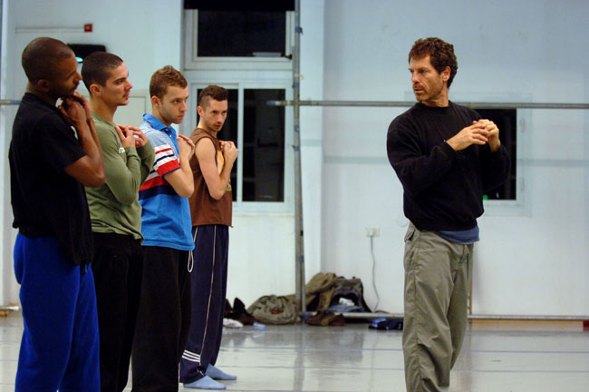 Ohad Naharin in studio