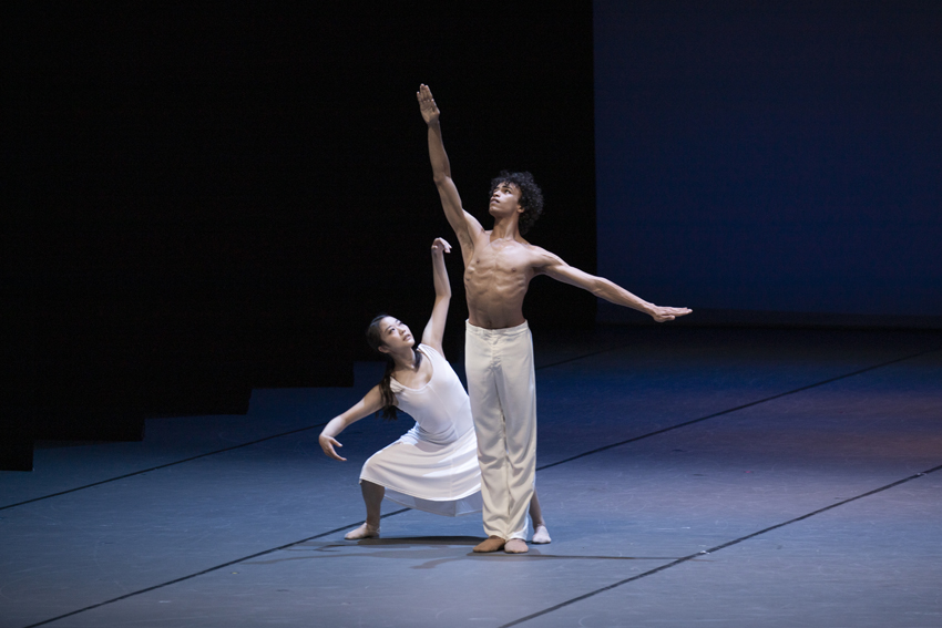 Natsuka Abe and Gabriel Brito of the Bundesjugendballettin Simple Gifts by John NeumeierPhoto Kiran West